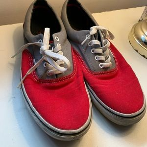 Vans classic grey and red size 11